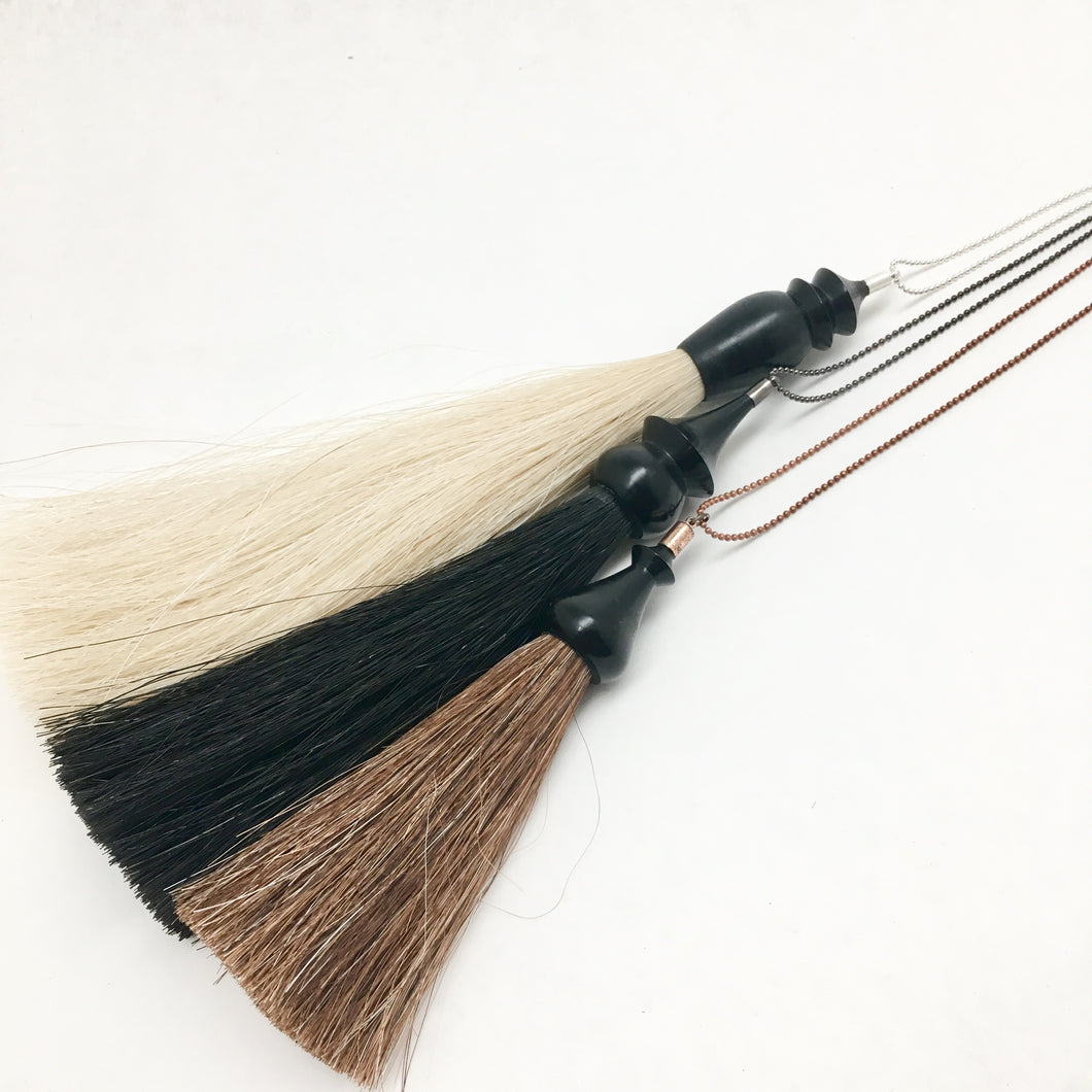 WS ebony tassel necklace