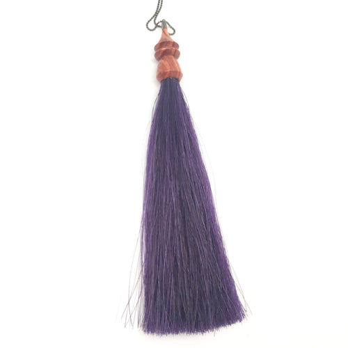 purple unicorn tassel necklace
