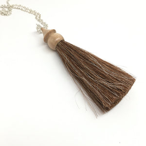 maple tassel necklace