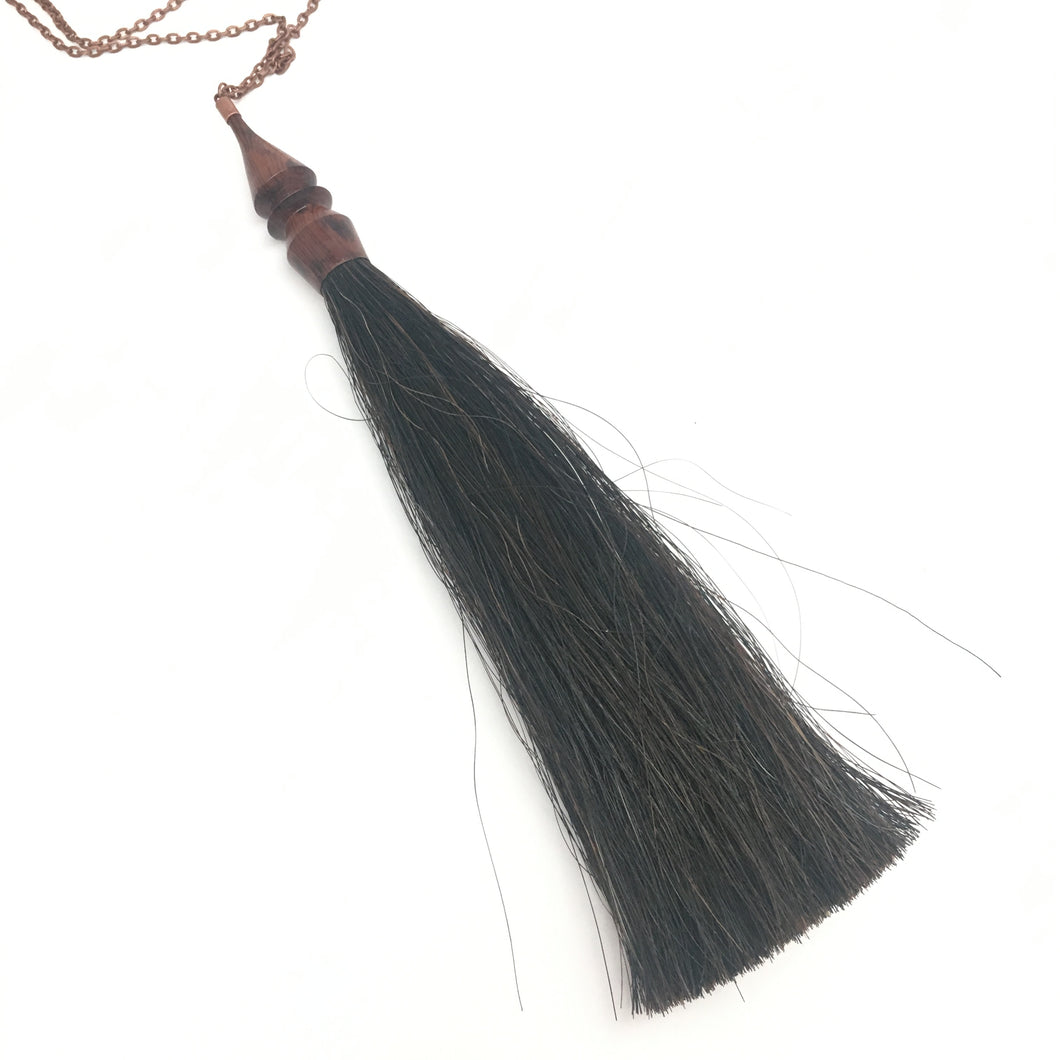 snakewood tassel necklace
