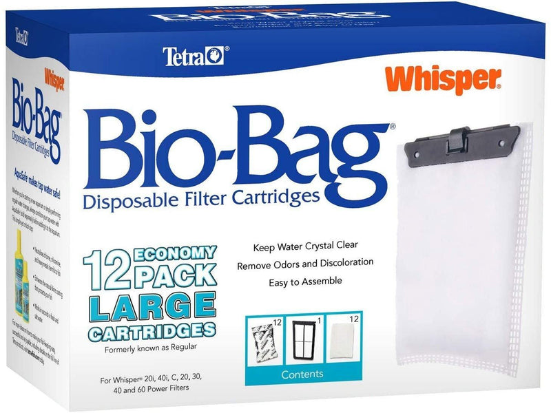 Tetra Whisper Bio-Bag Cartridge Large, 12-Pack, Tetra