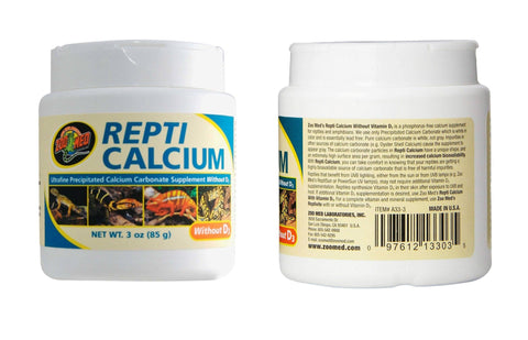 Zoo Med Repti Calcium without D3 Ultra Fine 3oz, Zoo Med