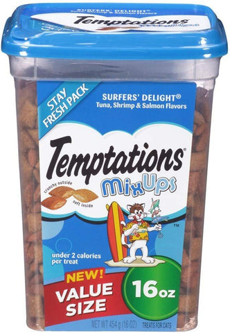 Temptations Cat MixUps Surfers Delight Treat 16oz, Temptations