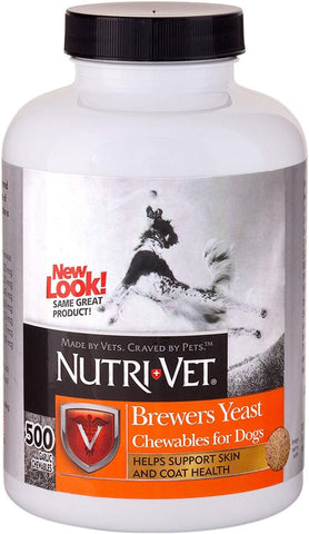 Nutri-Vet Brewers Yeast with Garlic Chewables, 500 Count, Nutri-Vet
