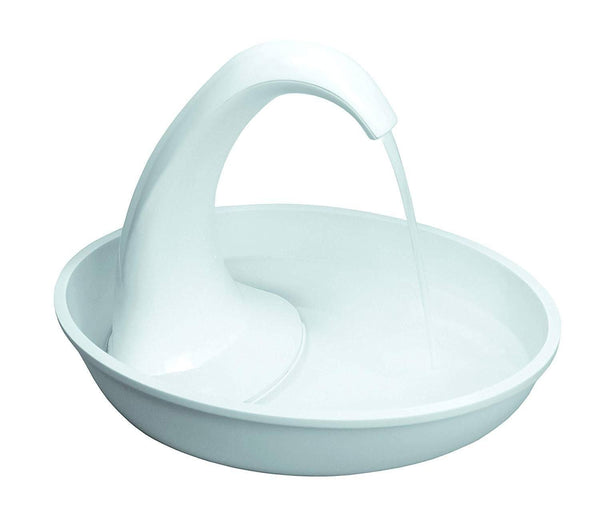 Pioneer Pet Swan Pet Drinking Fountain: 80oz Water Capacity, Pioneer Pet