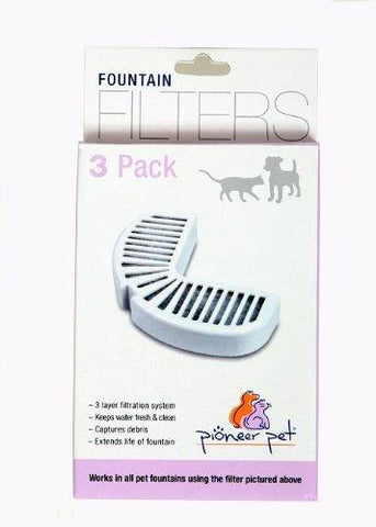 Pioneer Pet Replacement Filters for Stainless Steel Fountains 3 pk, Pioneer Pet