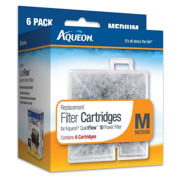 Aqueon Replacement Filter Cartridge Medium 6 Pack, Aqueon