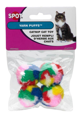 Ethical Products Spot Kitty Yarn Puffs 4 Pack, Ethical Pet