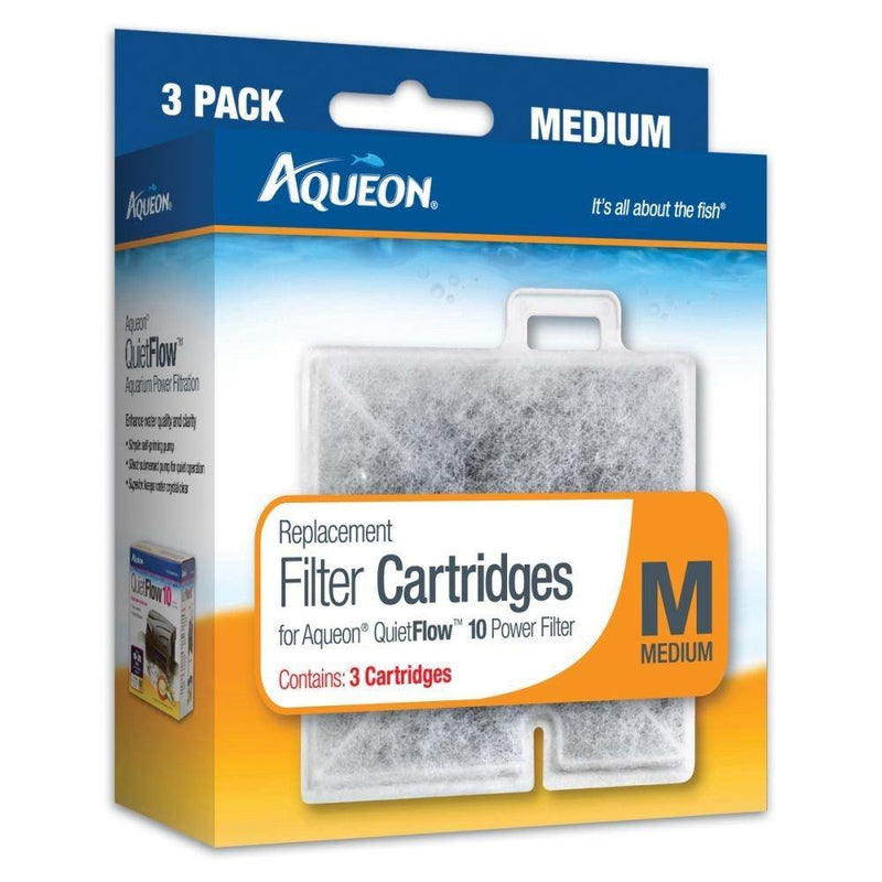 Aqueon Replacement Filter Cartridge Medium 3 Pack, AQUEON