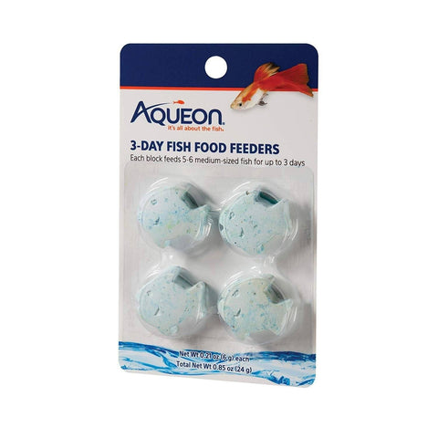 Aqueon 3-Day Tropical Freshwater Fish Food Feeder 4pk