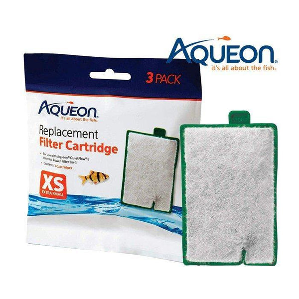 Aqueon QuietFlow E Replacement Filter Cartridges X-Small 3 Pack, Aqueon