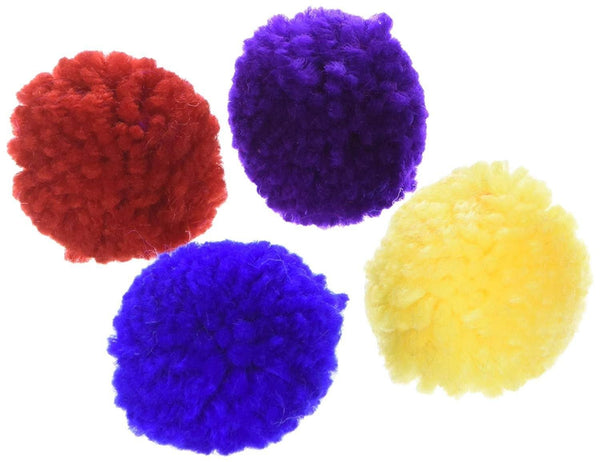 Ethical Products Spot Wool Pom Poms With Catnip 4 Pack, Ethical Pet