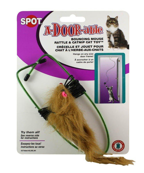 SPOT A-Door-Able Bouncing Mouse Cat Toy, Ethical Pet