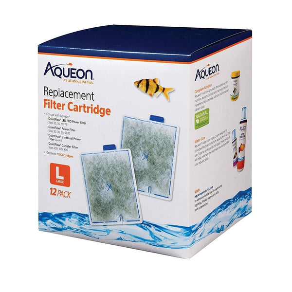 Aqueon Replacement Filter Cartridge Large 12 Pack, AQUEON