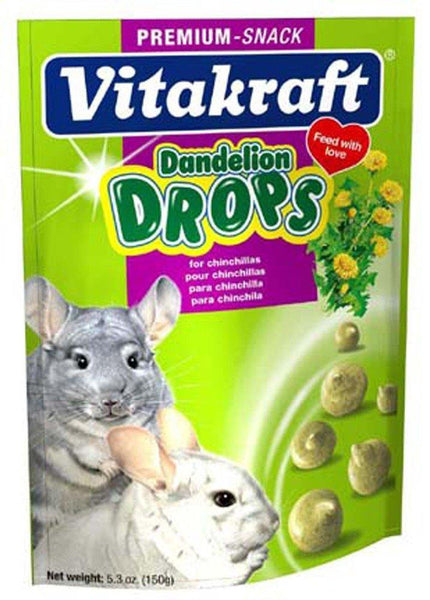 Vitakraft Chinchilla Dandelion Drops 5.3oz, Vitakraft