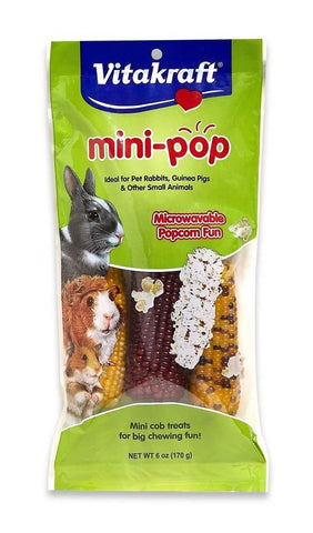 VitaKraft Mini-Pop Small Animal Popcorn Treat 6 oz, Vitakraft