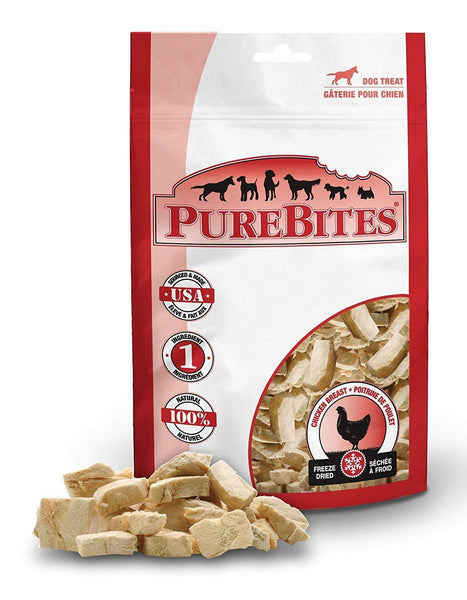 PureBites 100% USDA Freeze Dried Chicken Breast Dog Treats 11.6oz / 330g Super Value, PureBites