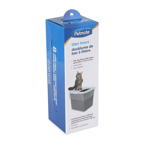 Petmate Top Entry Litter Pan Liners 8ct, Petmate