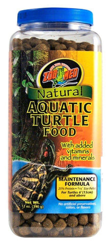 Zoo Med Natural Aquatic Turtle Food Maintenance Formula 12oz, Zoo Med