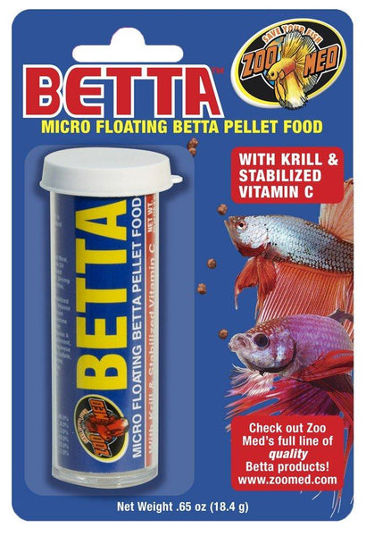 Zoo Med Betta Micro Floating Betta Pellet Food 0.65 oz, Zoo Med