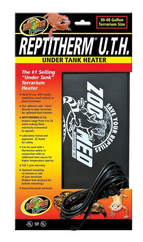 Zoo Med ReptiTherm Under Tank Heater 30-40gal 8x12, Zoo Med