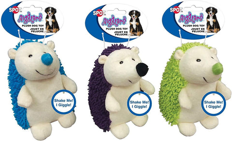 Spot Giggler Plush Hedgehog Assorted 6.5in, Ethical Pet