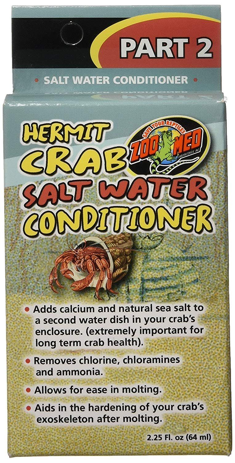 Zoo Med Hermit Crab Salt Water Conditioner 2.25oz, Zoo Med