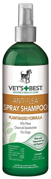 Veterinarian's Best Natural Anti-Flea Easy Spray Shampoo 16oz, Vet's Best