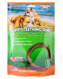 N-Bone Puppy Teething Ring Pumpkin Flavor 6 pack, N-Bone