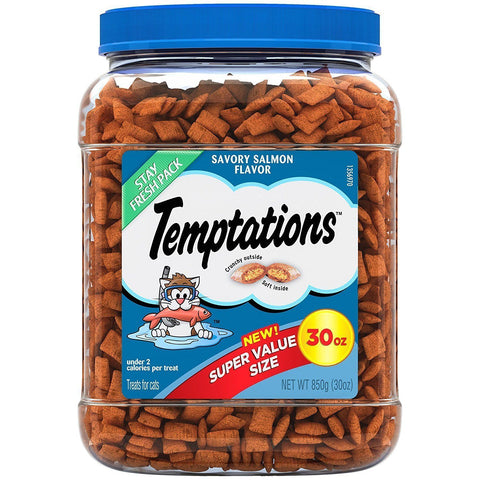 WHISKAS Temptations Savory Salmon Flavor Cat Treats 30oz, Temptations