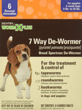 SENTRY Worm X Plus 7 Way De-Wormer Small Dog 6 Count, Sentry