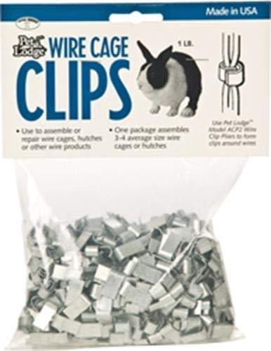 Pet Lodge Wire Cage Clips 1lb bag, Miller