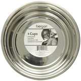 Bergan Non-Skid Heavy Duty Stainless Steel Dog Bowl Size 4 Cups, Bergan