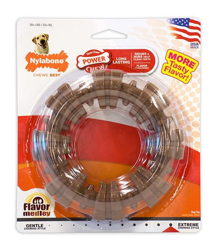 Nylabone DuraChew Textured Ring Chicken Blister Card Large, Nylabone