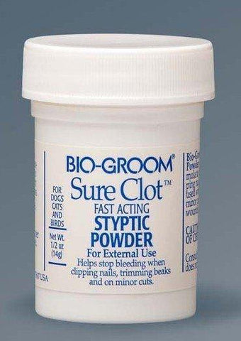 Bio-Groom Sure Clot Fast Acting Styptic Powder .5oz