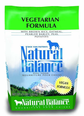 Natural Balance Vegetarian Dry Dog Food 4.5lb, Natural Balance