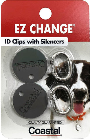Coastal EZ Change® Dog ID Clip with Silencer, Coastal Pet