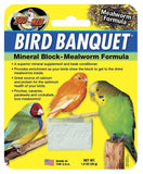 Zoo Med Bird Banquet Mineral Block Mealworm Formula Small