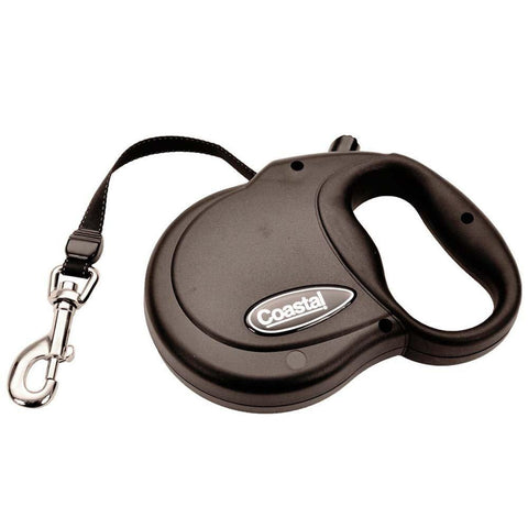 Coastal Power Walker Retractable Dog Leash Black Small up to 32lbs