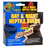 Zoo Med Day & Night Reptile Bulbs Combo Pack 60W