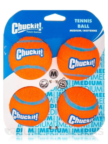 Chuckit! Tennis Balls Dog Toy Medium 4pk
