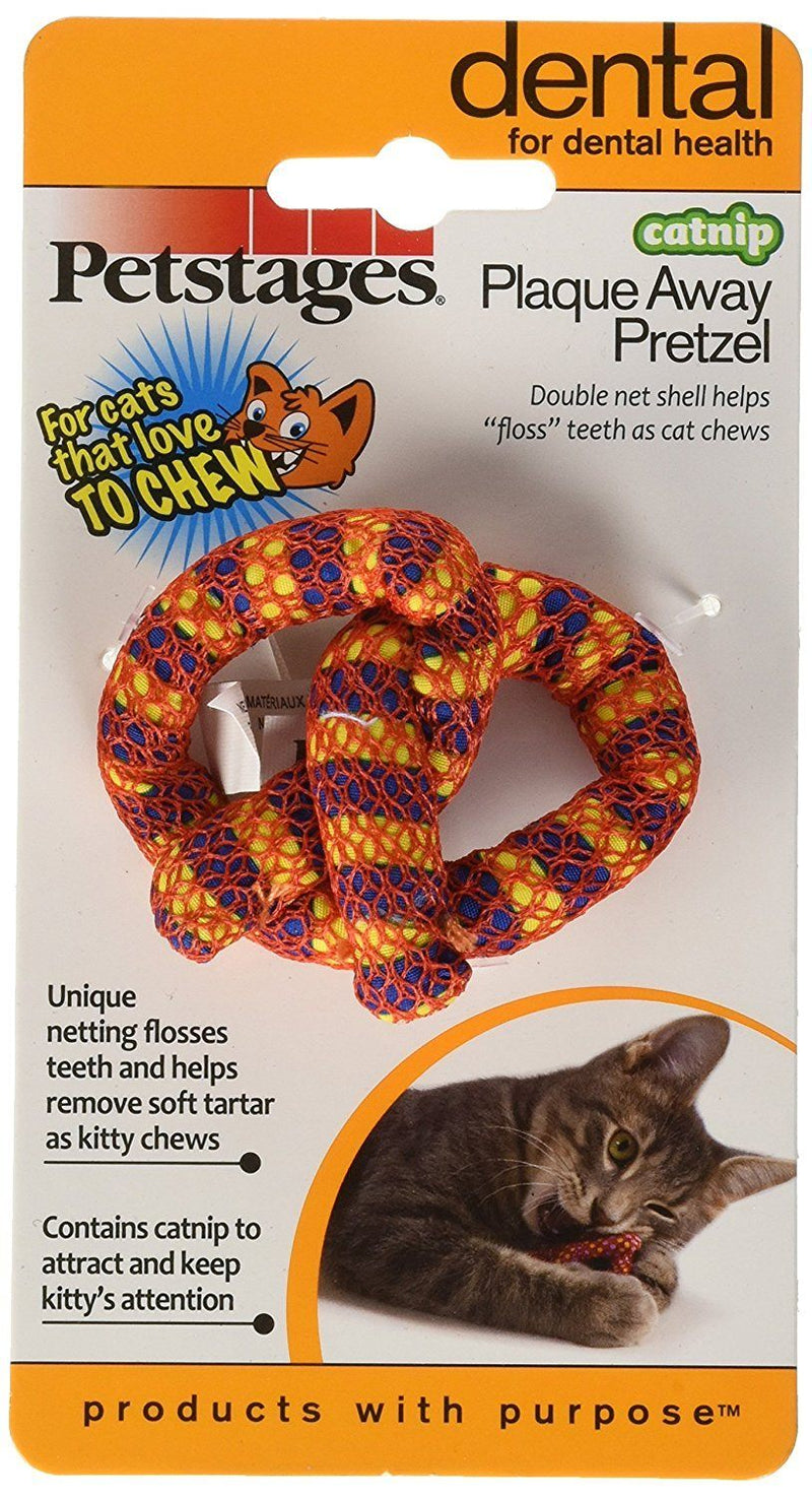 Petstages Plaque-Away Pretzel Catnip Toy