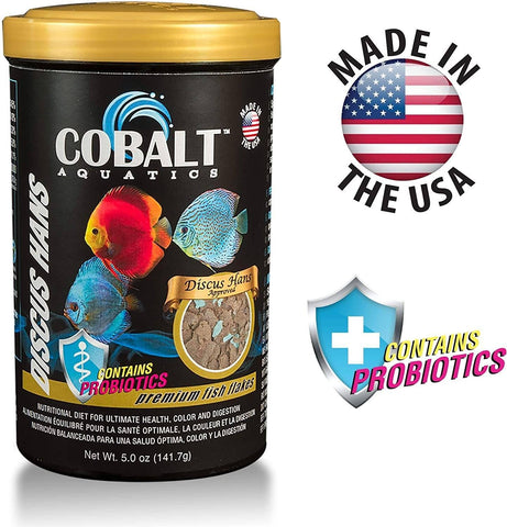 Cobalt Discus Hans Flake Fish Food 5oz