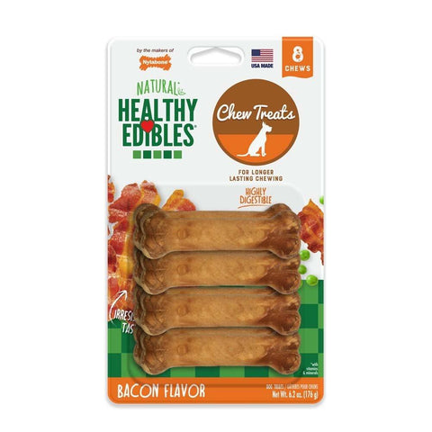 Nylabone Healthy Edibles Longer Lasting Bacon Petite 8ct