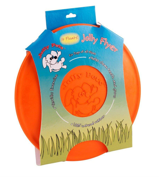 Jolly Pet Jolly Flyer Floating & Flying Dog Toy Orange 7.5in