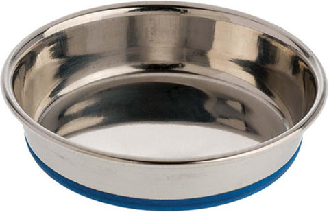 OurPet's Premium Rubber-Bonded Stainless Steel Cat Bowl 8oz