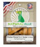 Loving Pets Natural Value Chicken Dental Stick Recipe Dog Treat Small 3oz