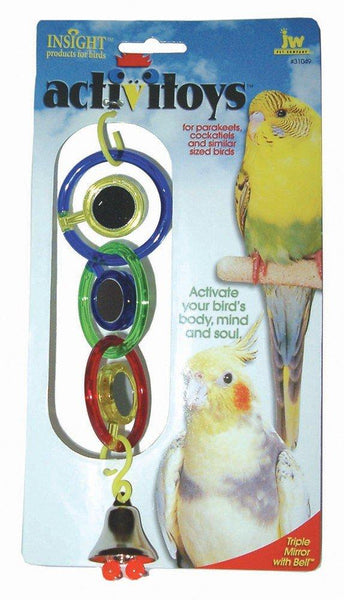 JW ActiviToy Triple Mirror Bird Toy Small/Medium