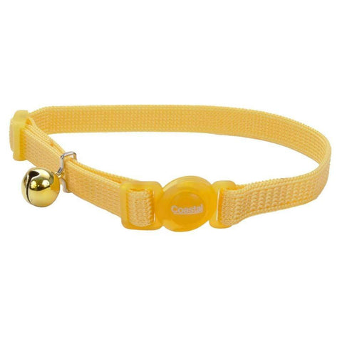 Coastal Safe Cat Adjustable Snag-Proof Nylon Breakaway Collar Banana Boat 3/8X12