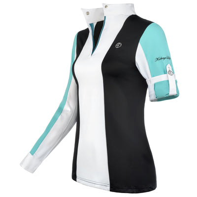 equestrian shirt show shirt hunter jumper colorblock tuxedo shadbelly equitation technical fabric